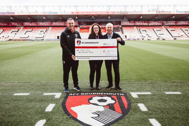 AFC Bournemouth's Cherries Community Draw Donates £1,000 For Musica to Work with Community Care Charity PramaLIFE